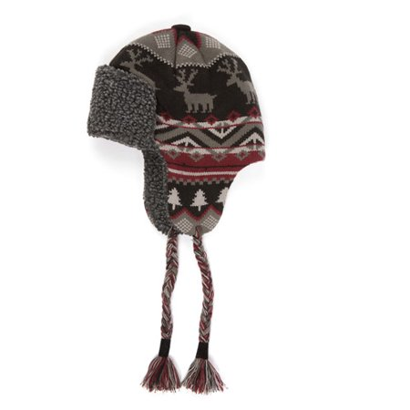 c7c078693fcfd Muk Luks - Men s Nordic Knit Trapper Hat with Sherpa Lining ...