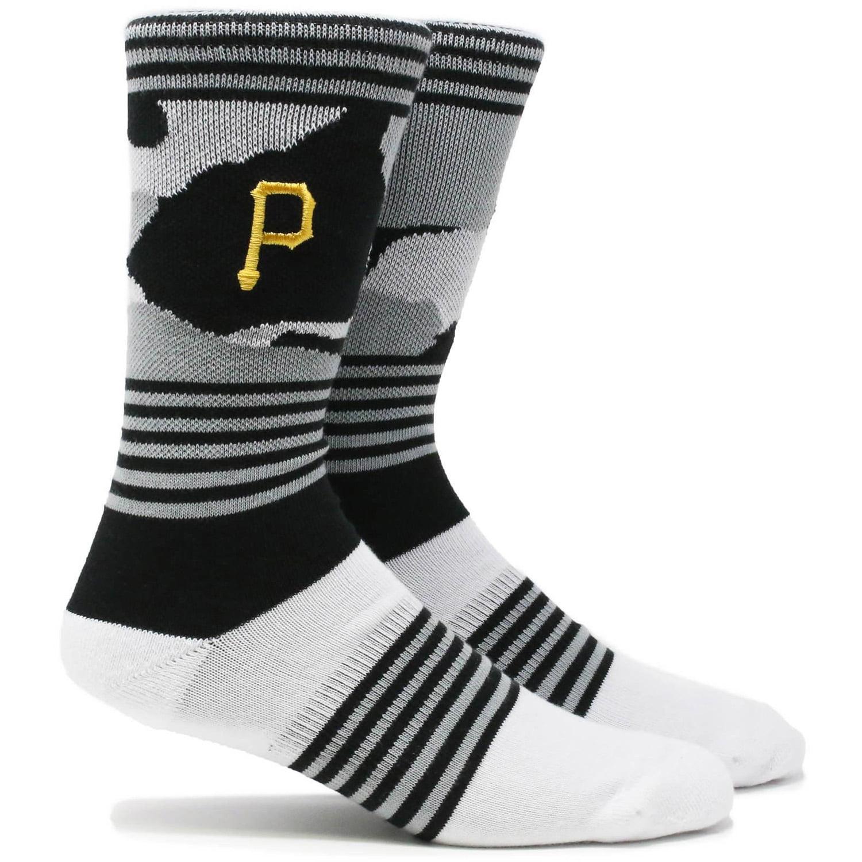 Pittsburgh Pirates Camo Crew Socks - L