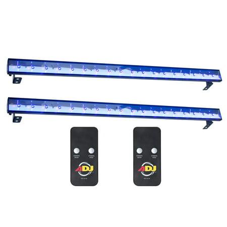 (2) American DJ Eco UV Bar Plus IR Pro LED Black Light Wash Fixtures w/ (Living In Wichita Kansas Pros And Cons)