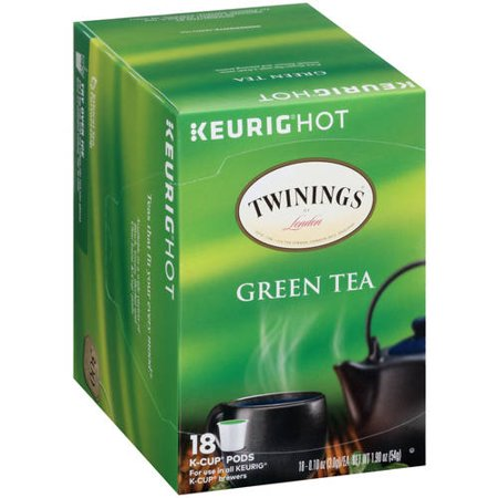Twinings de London Green Tea K-Cup pods, 0,10 oz 18 count