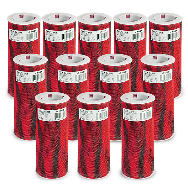 """Expo Int'l Pack of 12 Zebra Print 6"""" Tulle Spool of 10 Yards"""