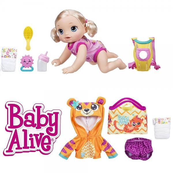 Baby Alive Baby Go Bye Bye Blonde Bonus Set