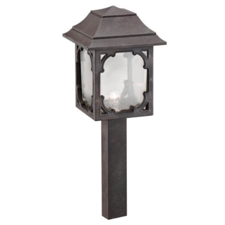 Intermatic CL083OB Malibu Low Voltage 7-Watt Metal Garden Light, Oil Rubbed Bronze with Seeded Globe