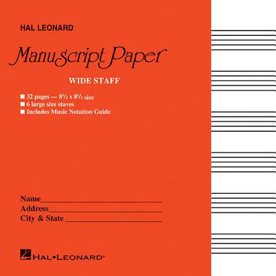 Wide Staff Manuscript Paper (Red Cover) ()
