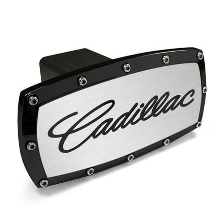 - Cadillac Black Trim Billet Aluminum Tow Hitch Cover
