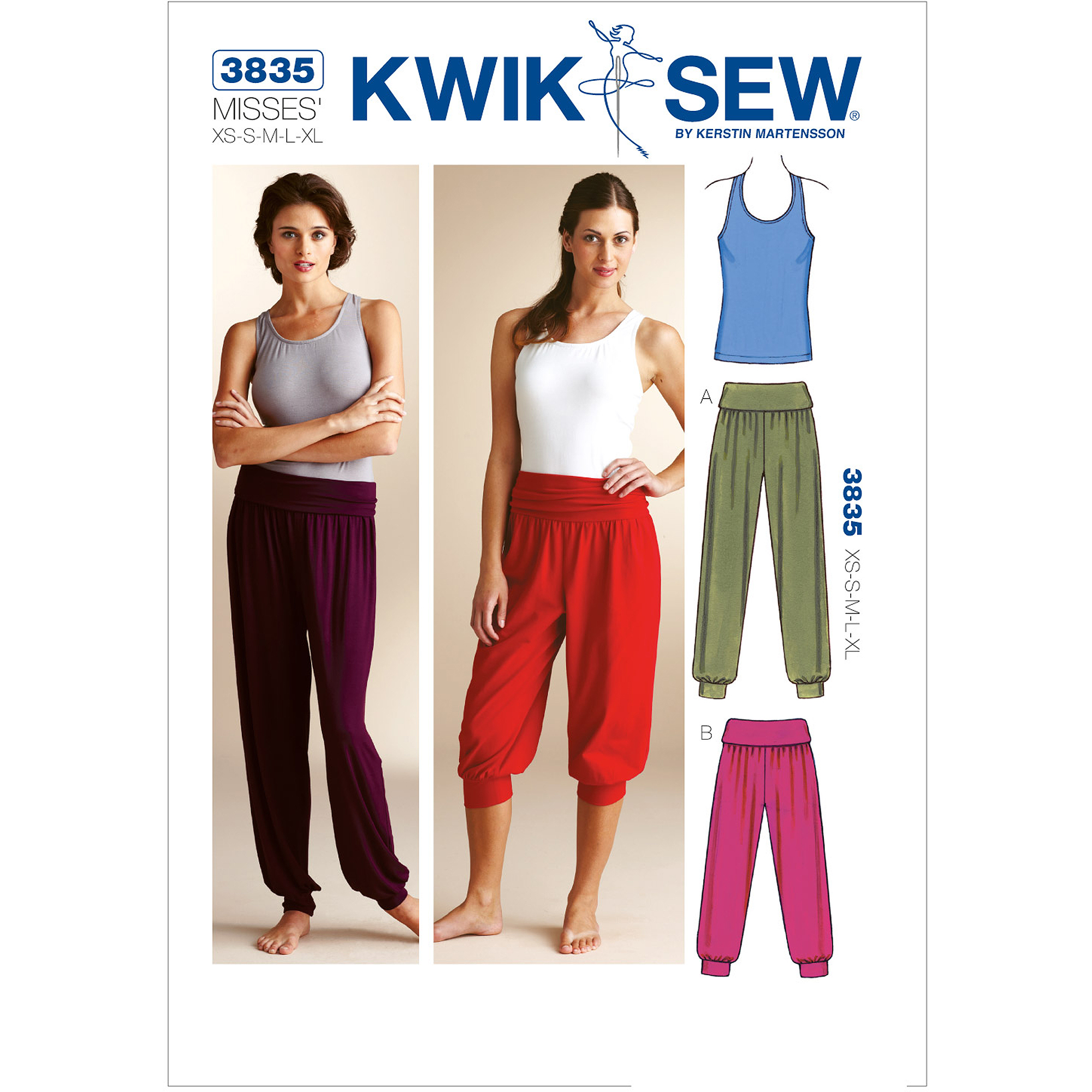 Kwik Sew Pattern Top and Pants, (XS, S, M, L, XL)