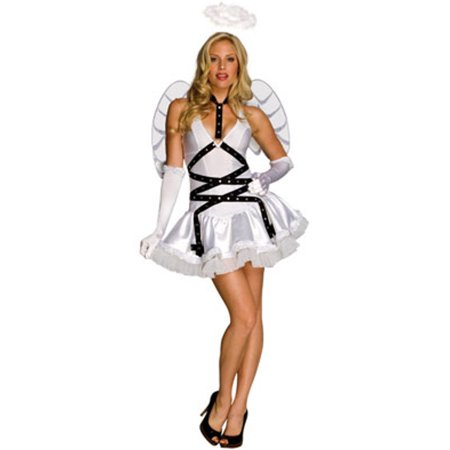 Women's Adult Taste of Heaven  White Angel Costume - Snow White Woman Costume