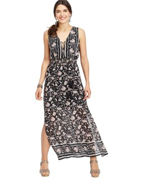 449b2b4efe1 Sold   shipped by maurices. Product Image Lace Up Border Print Maxi Dress