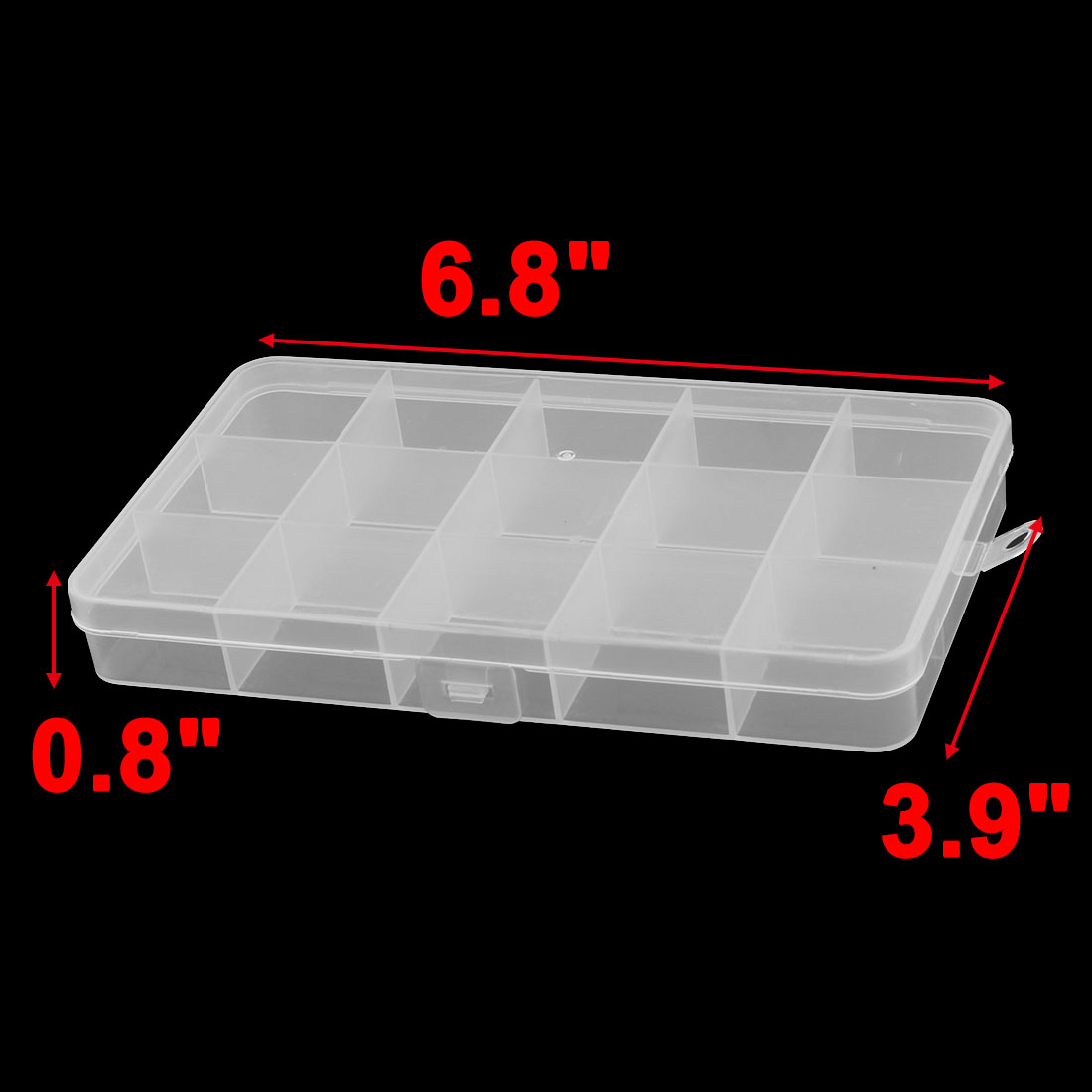 Household Office 15 Compartments Sundries Beads Capsule Storage Case Box 5 Pcs - image 2 of 4
