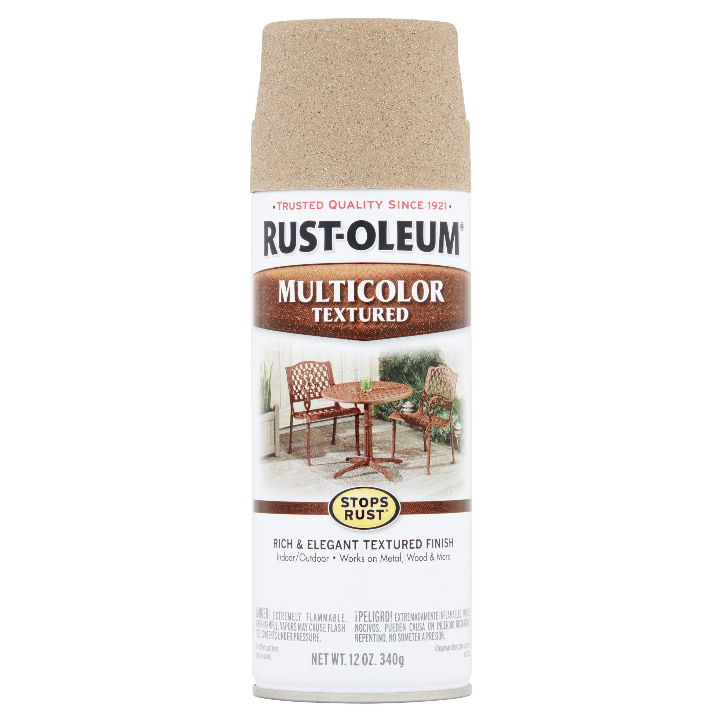 Rust-Oleum Stops Rust Multicolor Textured Desert Bisque Spray Paint, 12 oz