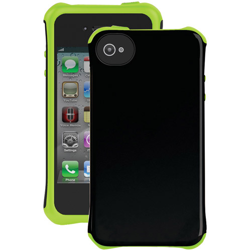 BALLISTIC AP1123-A005 iPhone(R) 4/4S Aspira(R) Series Case (Black/Lime)