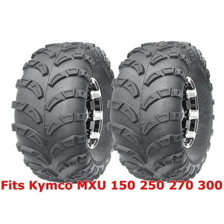 (2) 22x10-10 Kymco MXU 150 250 270 300 Sport ATV Rear Tires Set Mud