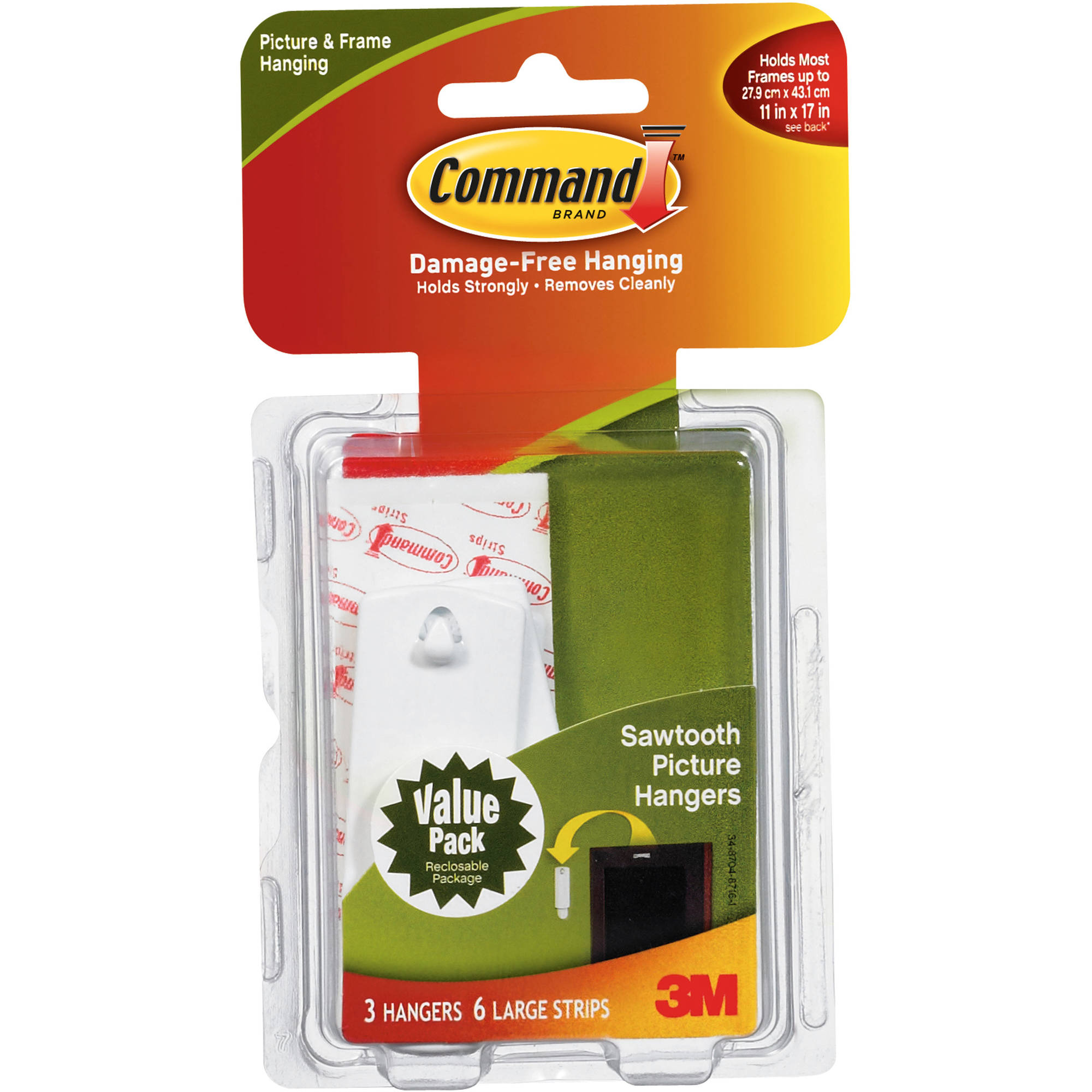 Command Sawtooth Picture Hanging Hooks, 17042