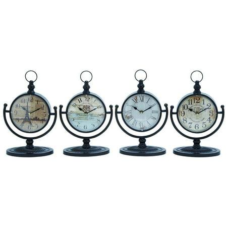 4-Pc Assorted Desk Clock Set
