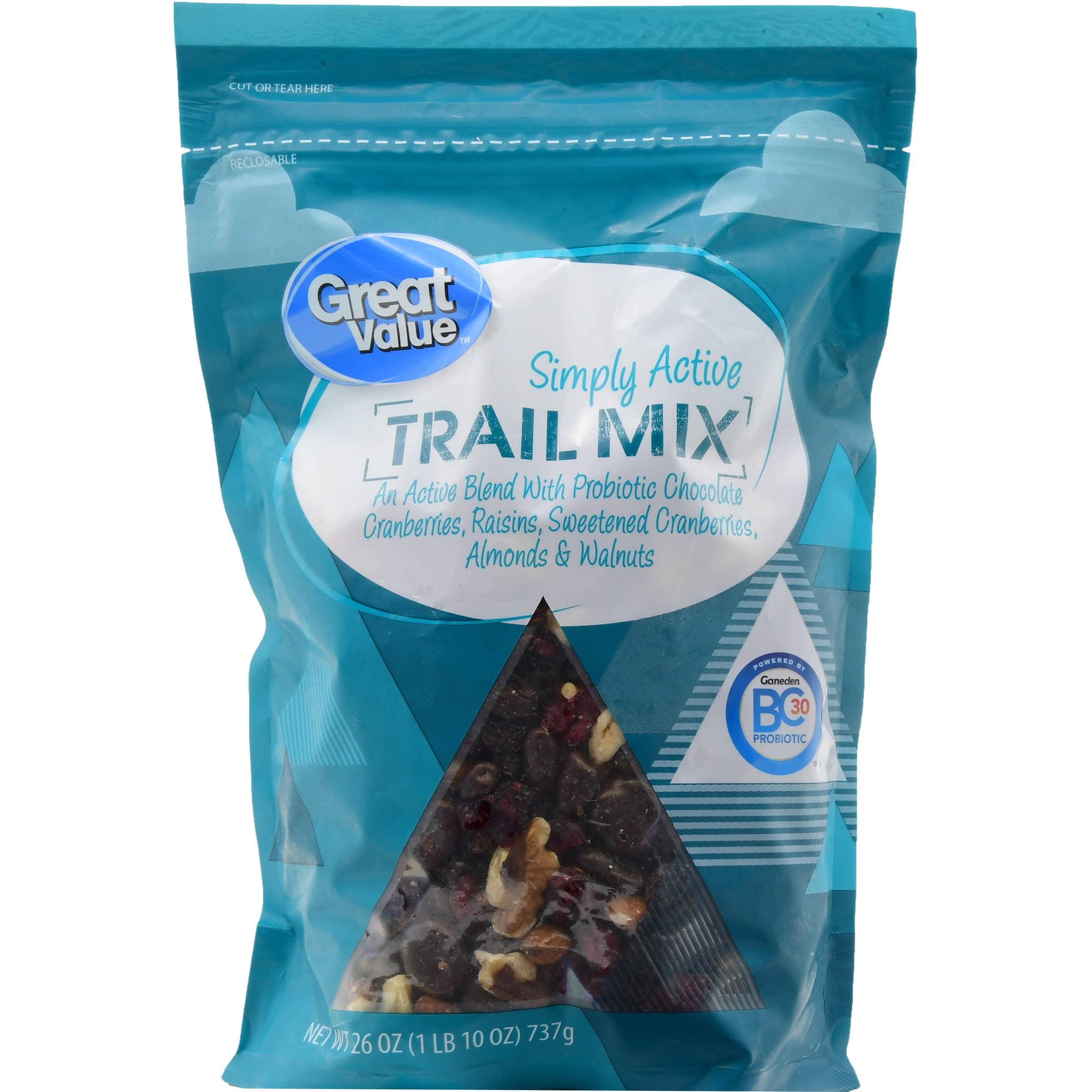 Great Value Simply Active Trail Mix, Probiotic, 26 oz - Walmart.com