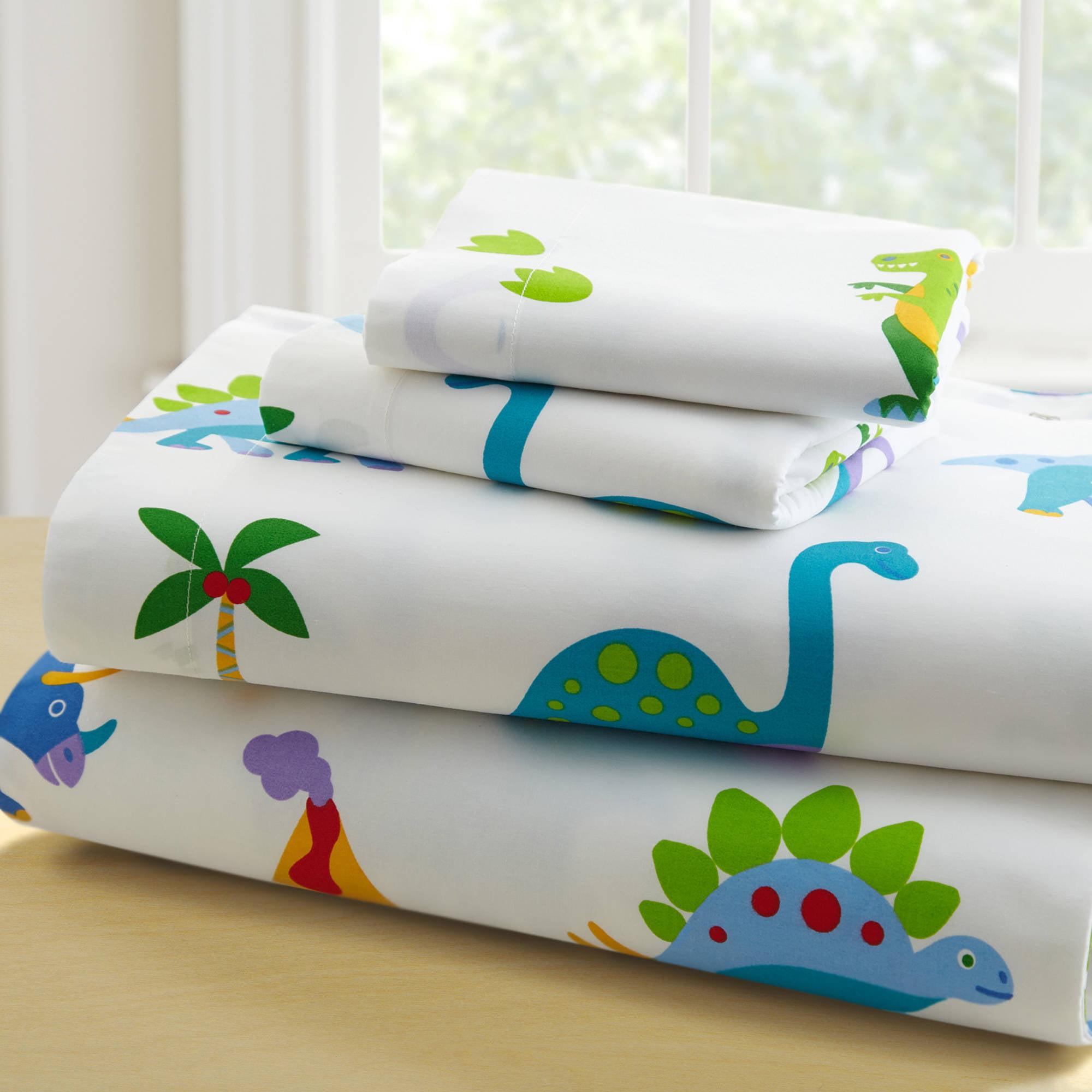 olive kids dinosaur land toddler bedding sheet set walmartcom - Toddler Boy Sheets
