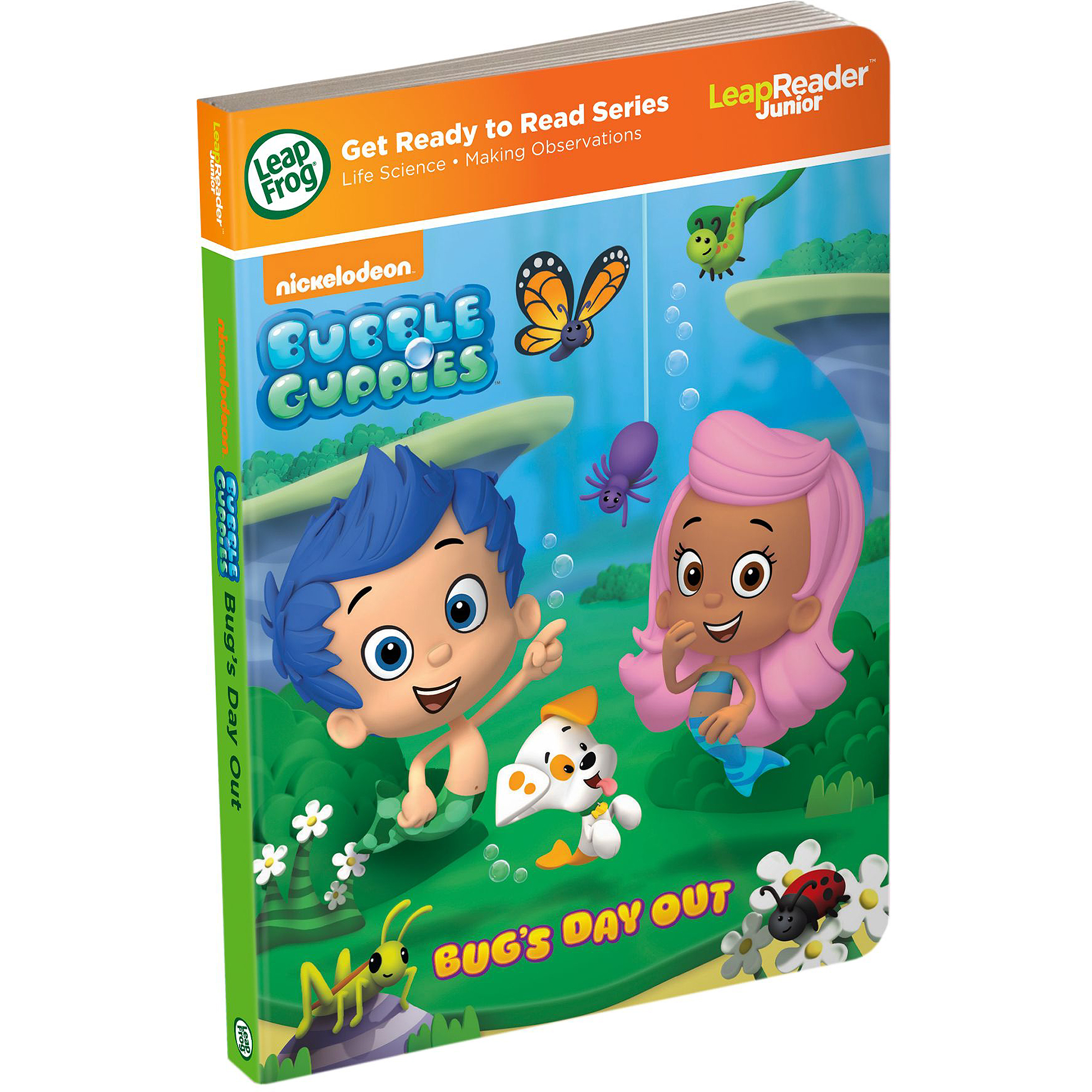 leapfrog nickelodeon bubble guppies bug u0027s day out for leapreader