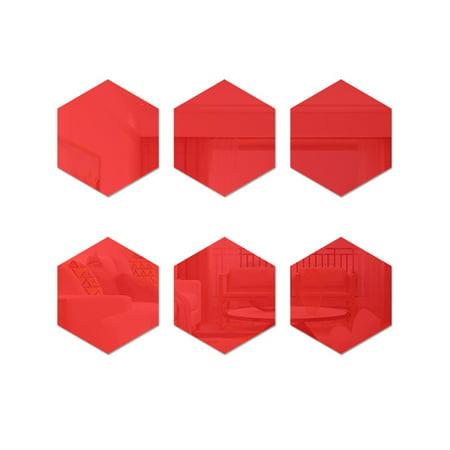 3D Hexagon Acrylic Mirror Wall Stickers DIY Art Wall Decor Stickers Home Decor - image 7 of 7