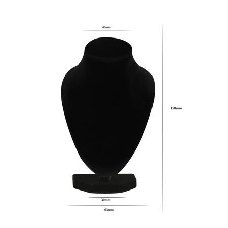 Durable Black Mannequin Necklace Jewelry Pendant Display Stand Holder Show Decorate Bracelet Jewelry Organizer, Black - image 6 of 7
