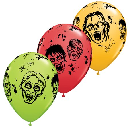 Scary Halloween Balloons (Qualatex Halloween Zombies 11