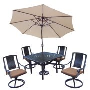 Oakland Living Corporation Oakland Living Sunbrella Aluminum 7-piece Swivel Rocker Dining Set