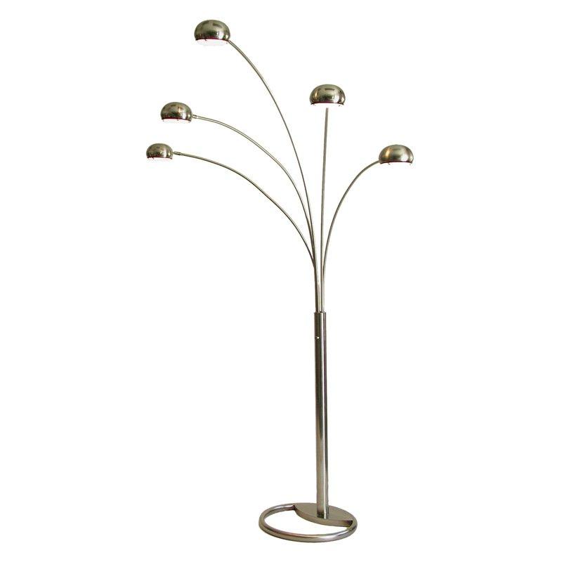 Nova Lighting 87-In Brushed Nickel Multi-Head Floor Lamp With Metal Sh