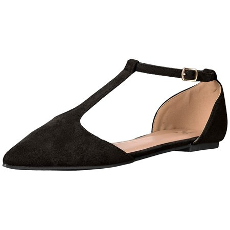 - Journee Collection Womens Vera Fabric Pointed Toe Ankle Strap Slingback Flats