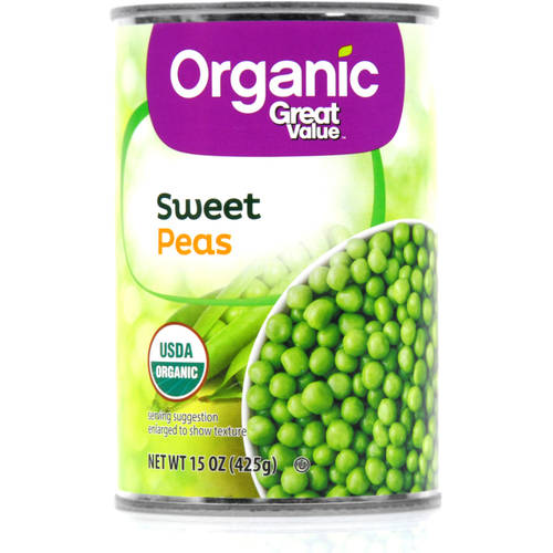 Great Value Organic Sweet Peas, 15oz