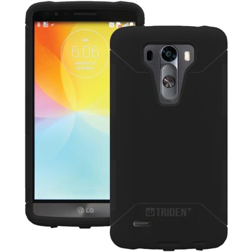 "Trident Aegis Case for LG G3 - Smartphone - Black - Dual-Textured - High Gloss - Silicone, Polycarbonate - 48"" Drop Height"