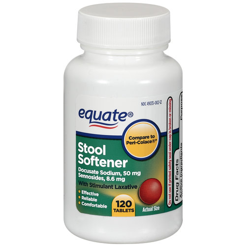 Equate Stool Softener Tablets With Stimulant Laxative, 120ct
