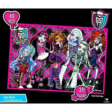 Monster High Doll Character 46 Piece Floor Puzzle by Mattel - Halloween Puzzles For High School