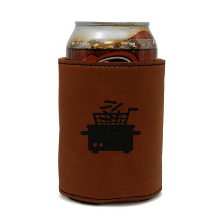 Fryer Leather Can Sleeve, Beer Sleeve, Beer Cooler, Beer Hugger