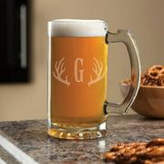 Personalized Antlers 16 oz Beer Mug