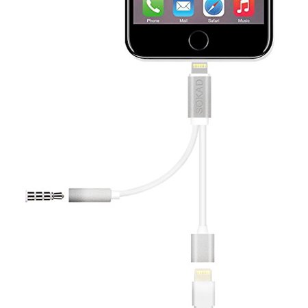 - IPhone 7 / 7 Plus 2 in 1 Lightning Charging Port Extension Cable 3.5mm Headphone Adapter and for Apple Devices Converter and Audio Jack,No Music Control, Not Suitable for IOS10.3 System