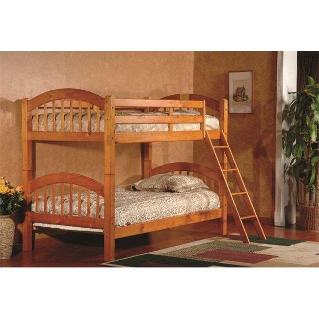 Bella Esprit O Twin Twin Stackable Bunk Bed Oak Finish