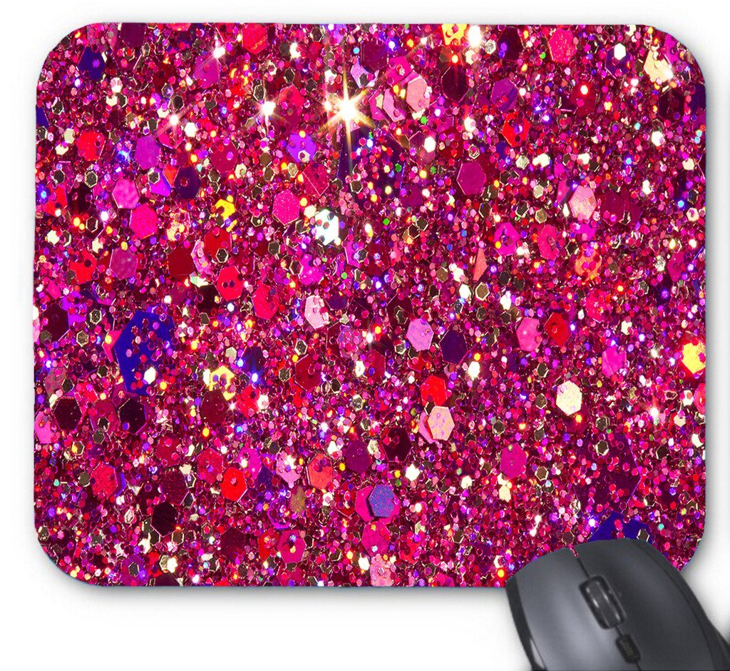 POPCreation Glitter Dark Pink Tattoo Mouse pads Gaming Mouse Pad 9.84x7.87 inches