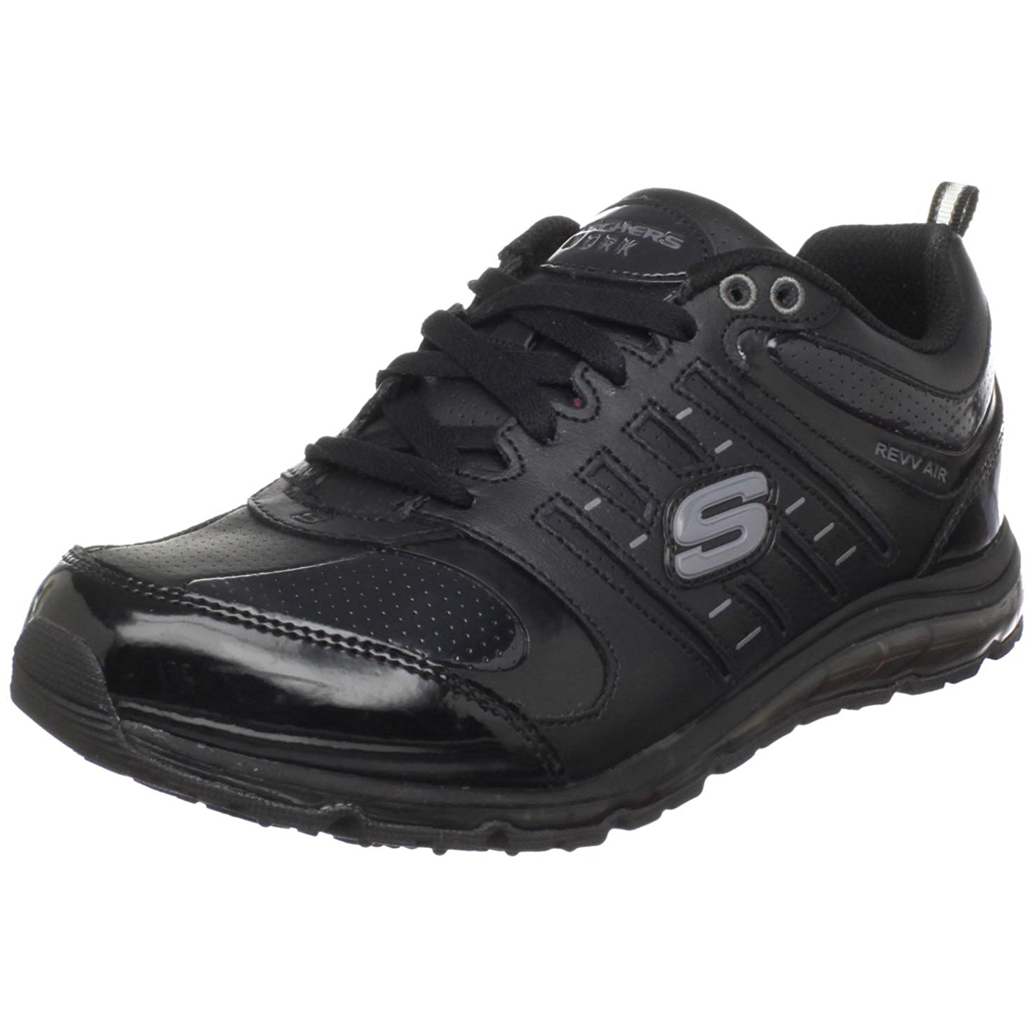 Skechers for Work Women's Air-Revvolution Sneaker,Black