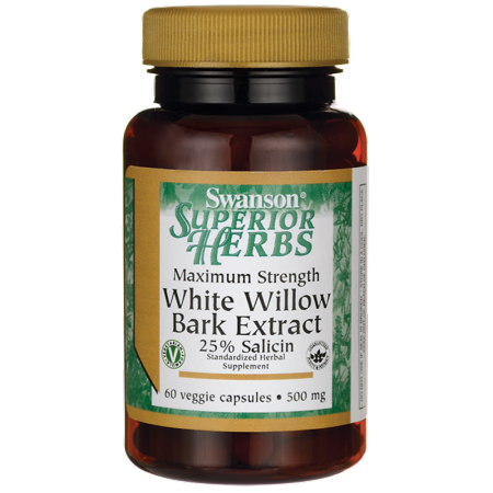 Ultimate Yohimbe Bark Extract - Swanson White Willow Bark Extract 500 mg 60 Veg Caps