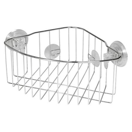 InterDesign Reo Powerlock Suction Corner Shower Basket Bath Caddy ...