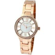 Ellen Tracy Womens Rose Gold Tone Bracelet Watch One Size Rose tone