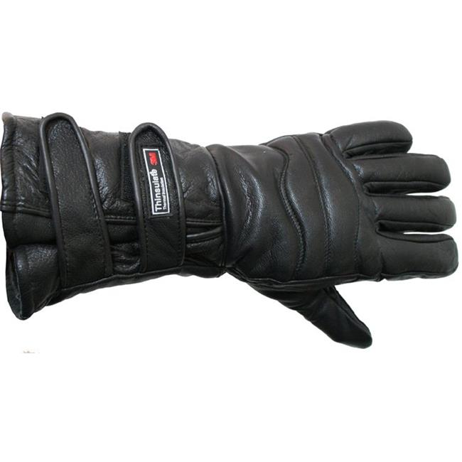 Perrini Motorcycle Gloves Close out Winter Riding Leather Biker Leather Gloves New - Small