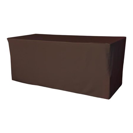TCpop-fit-96x48x30-BrownP22 4.3 lbs Polyester Poplin Fitted Tablecloth, Brown - image 1 de 1