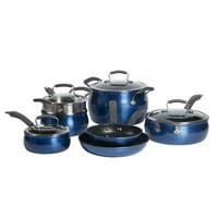 Epicurious 11Pc Cookware Set Non-stick Aluminum Blue