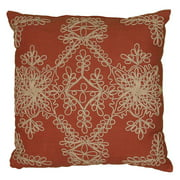 """Rizzy Home Decorative Poly Filled Throw Pillow Medallion 18""""X18"""" Brown"""
