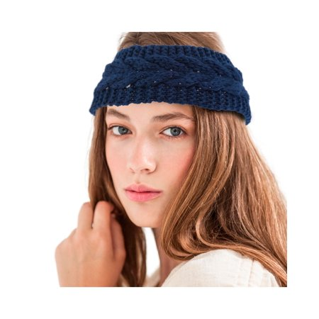 Zodaca Women Ladies Winter Crochet Knit Knitted Warmer Headband Hairband Headwrap Ear Band (Pig Ear Headband)