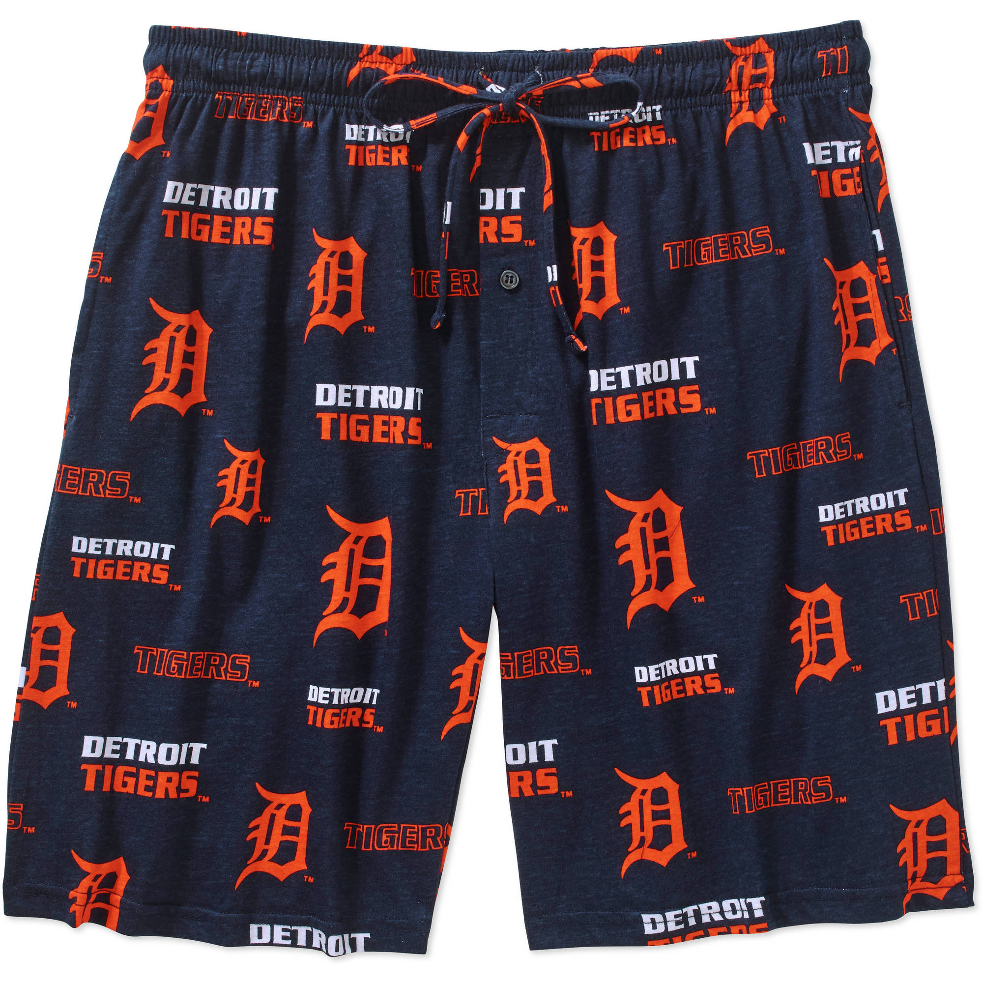 MLB Big Mens Detroit Tigers Knit Jam Short, 2XL
