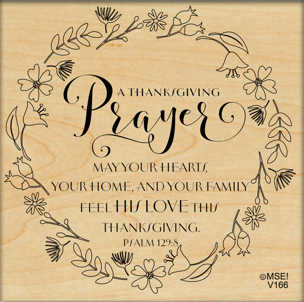 "My Sentiments Exactly Mounted Stamp 3.75""X3.75""-Thanksgiving Prayer Wreath"