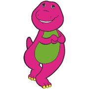 Smile Barney The Dinosaur Show Mascot Kids TV Show Wall Decals Decor Baby Songs I Love You Purple Dinosaurs Sticker Room Decoration for Bedrooms Vinyl Stickers Sticker Boy Girls Size (40x20 inch)