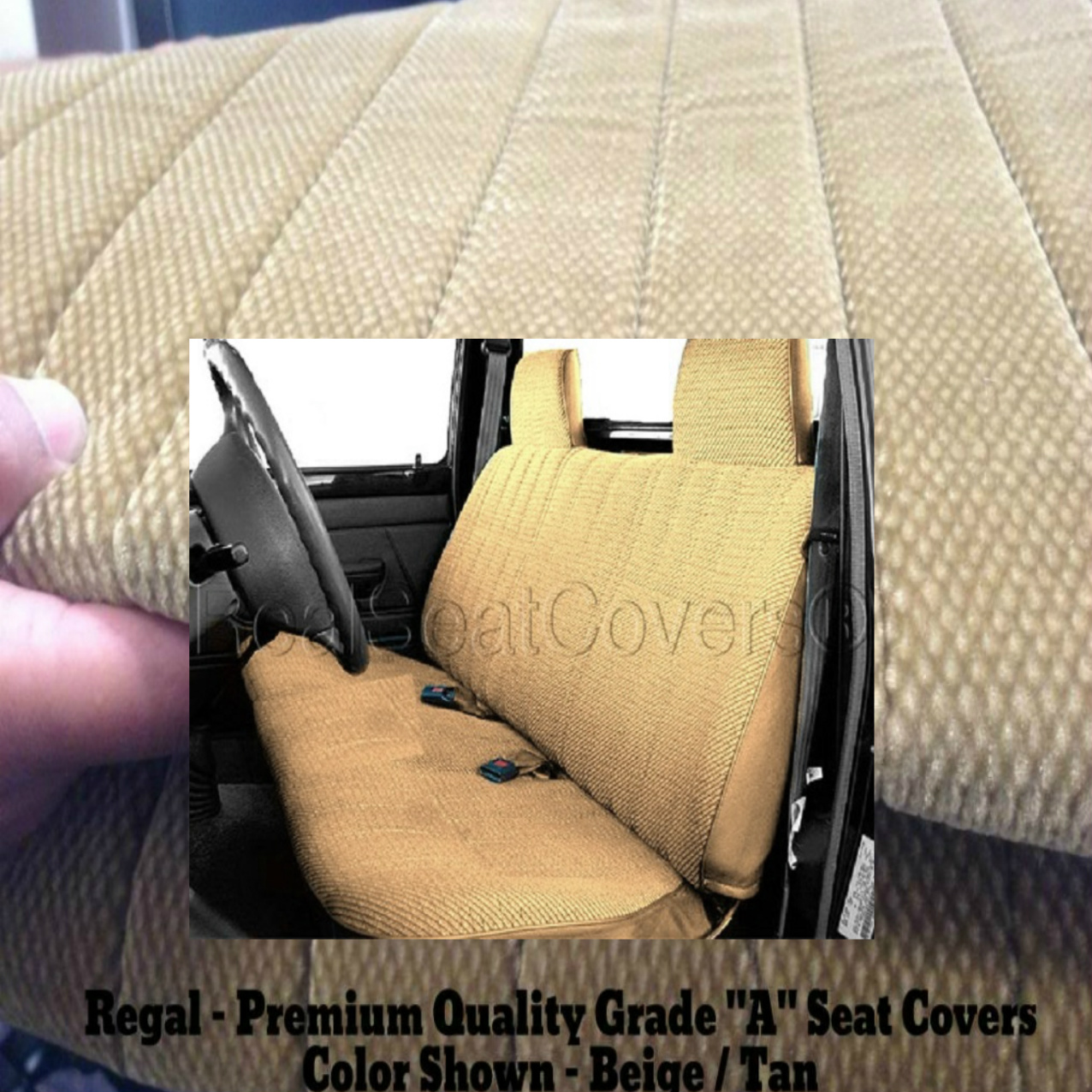 Ford Ranger 1991 - 1997 Front Solid Bench 12mm Thick Triple Stitched A23 Seat Cover Molded Blue