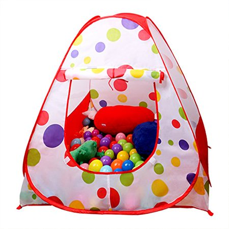 EocuSun Children Kids Play Tent Tents House Pop Up Outdoor Indoor ...